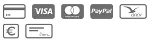 Paiement des arrhes via PayPal, Chèques, Virements ou ANCV