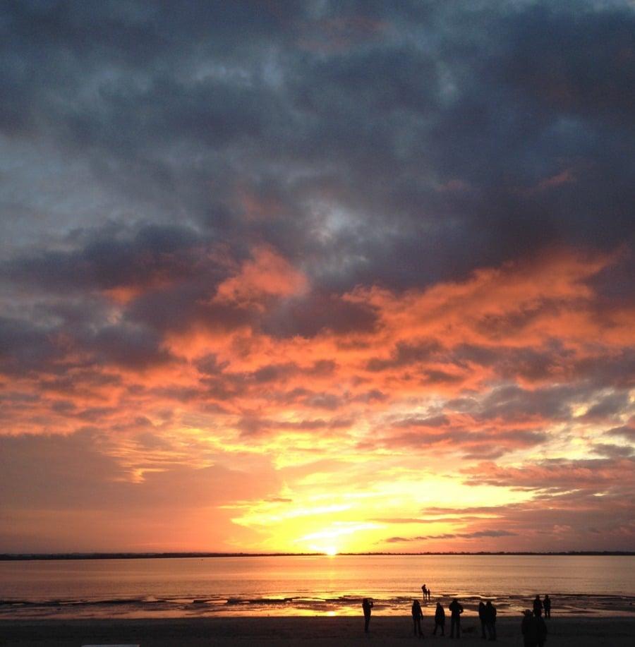 Baie de somme coucher soleil la maison bleue en baie - Chambre d hotes en baie de somme ...